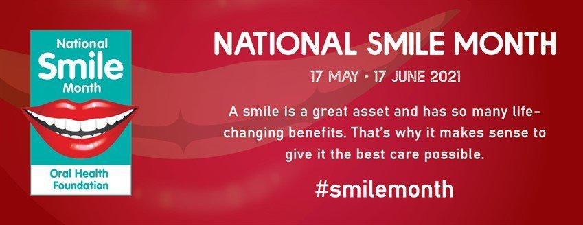 national smile month banner