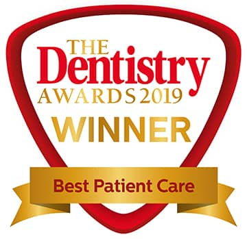 Winner Best Patient Care - Dentistry Awards 2019
